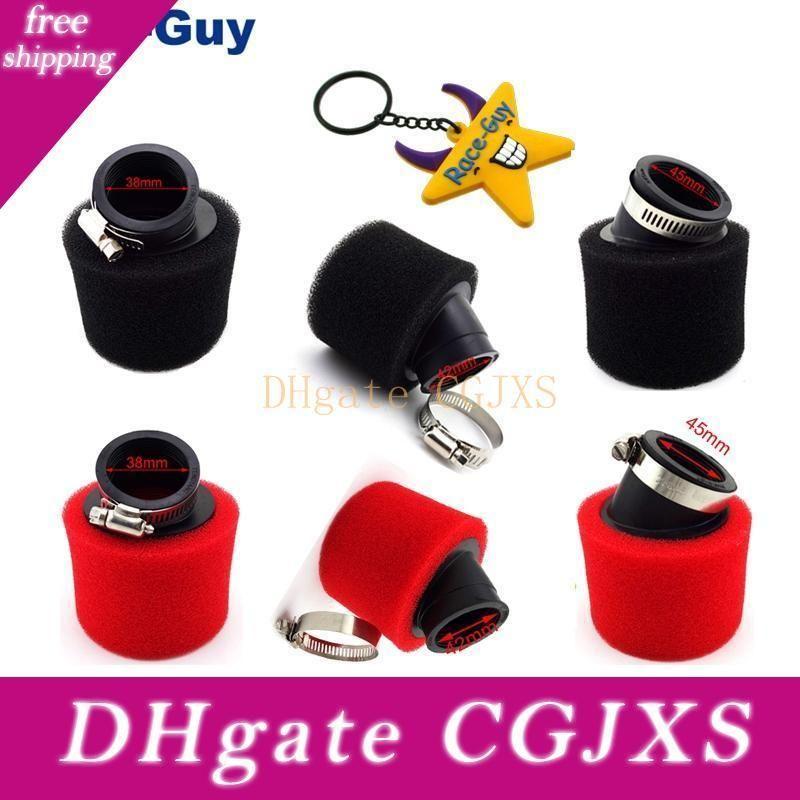 Черный Красный 38мм 42мм 45мм Изогнутый Воздушный фильтр для GY6 50cc мопед Скутер 110cc 125cc Pit Dirt обезьяны велосипед Atv Quad мотоциклов Mot