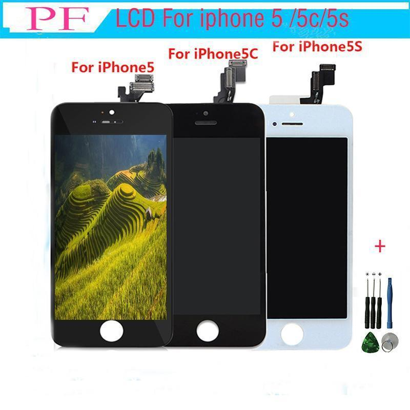1pc Grade A Lcd Display For Iphone 5 5s 5c Touch Screen Digitizer Full Assembly Replacement Repair Parts With Repair Tool Free