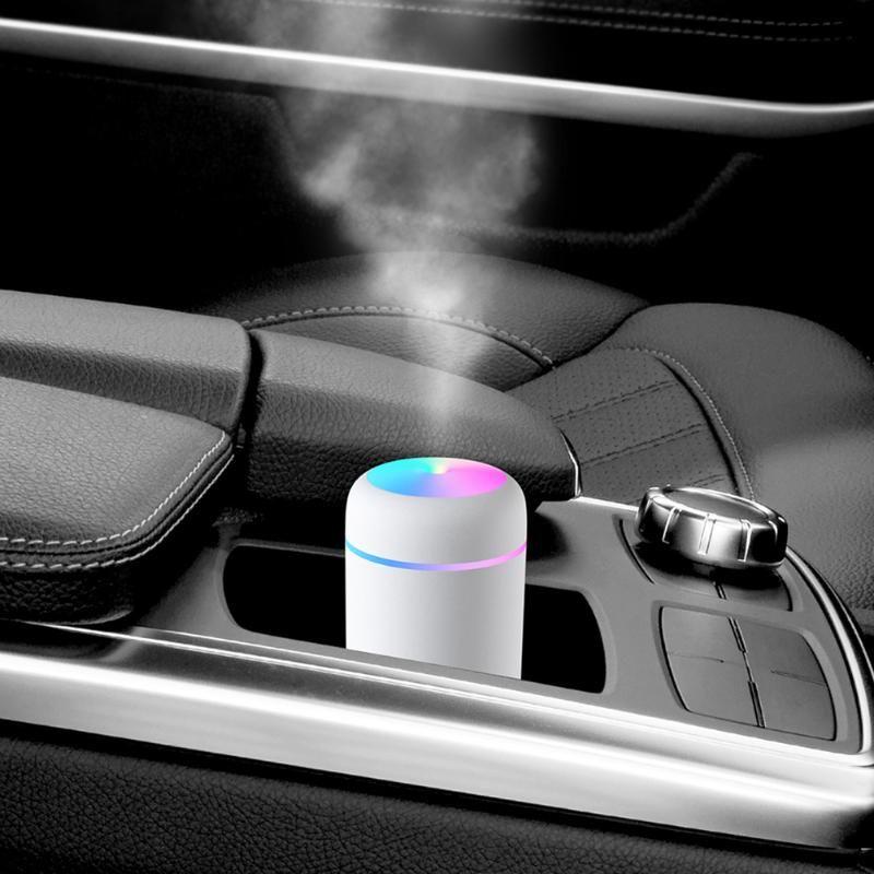 Mini portáteis umidificador umidificador de ar ultra suave luz colorida Essential Oil Difusor Início senhor Car Purificador de vapor frio Criador