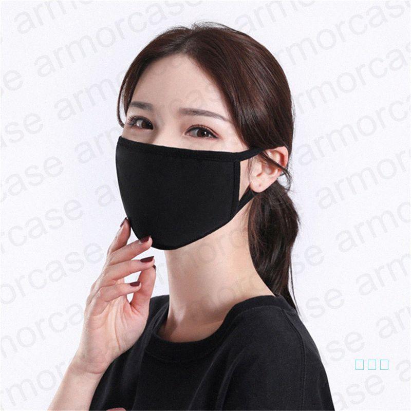 2020 Primavera Verano 2020 2 capas de algodón modal máscara ultravioleta Prueba respirable de la mascarilla de polvo lavable Máscaras máscara con solo componente D4 M3o8 #