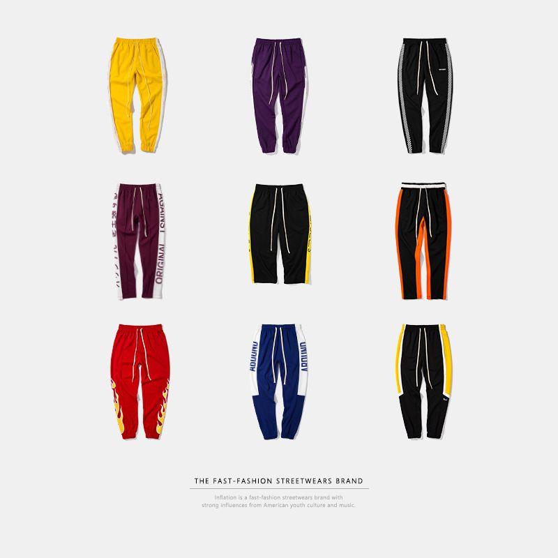 INFLATION Mens Streetwear Sweatpants 2020 Hip Hop Casual Joggers Sweatpants Men Street Fashion Trousers LJ200827