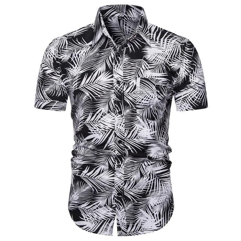 Vêtements sociaux shirt homme Coupe près du corps de courtes nouvelles Chemises modèle Homme d'été hawaïenne Chemisier hommes nouveaux