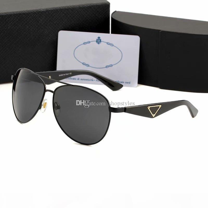 Nueva manera caliente lente polarizada Gafas de sol de conducción del piloto de la vendimia de los hombres deportes al aire libre de lujo de famosos para hombre Gafas de sol Gafas de sol Ronda