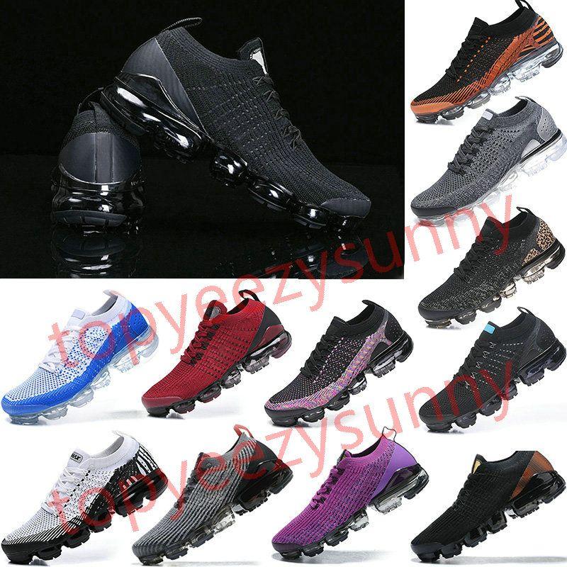 vapormax 2019 2018 vapormax Flyknit 2.0 3.0 Chaussures de course Triple Multi-Couleur Noir CNY pur Platinu Blanc Dusty Cactus marine minuit Hommes Femmes Sneakers
