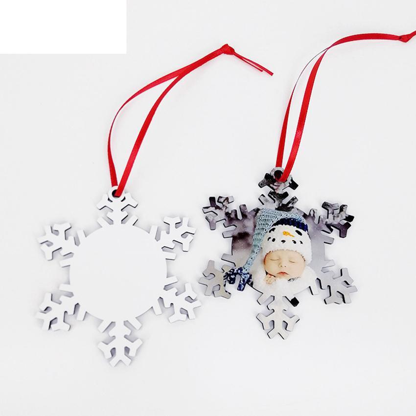 MDF Blank sublimazione di Natale in legno dell'albero di Natale appesi stampa fronte-retro decorazioni natalizie CYZ2815