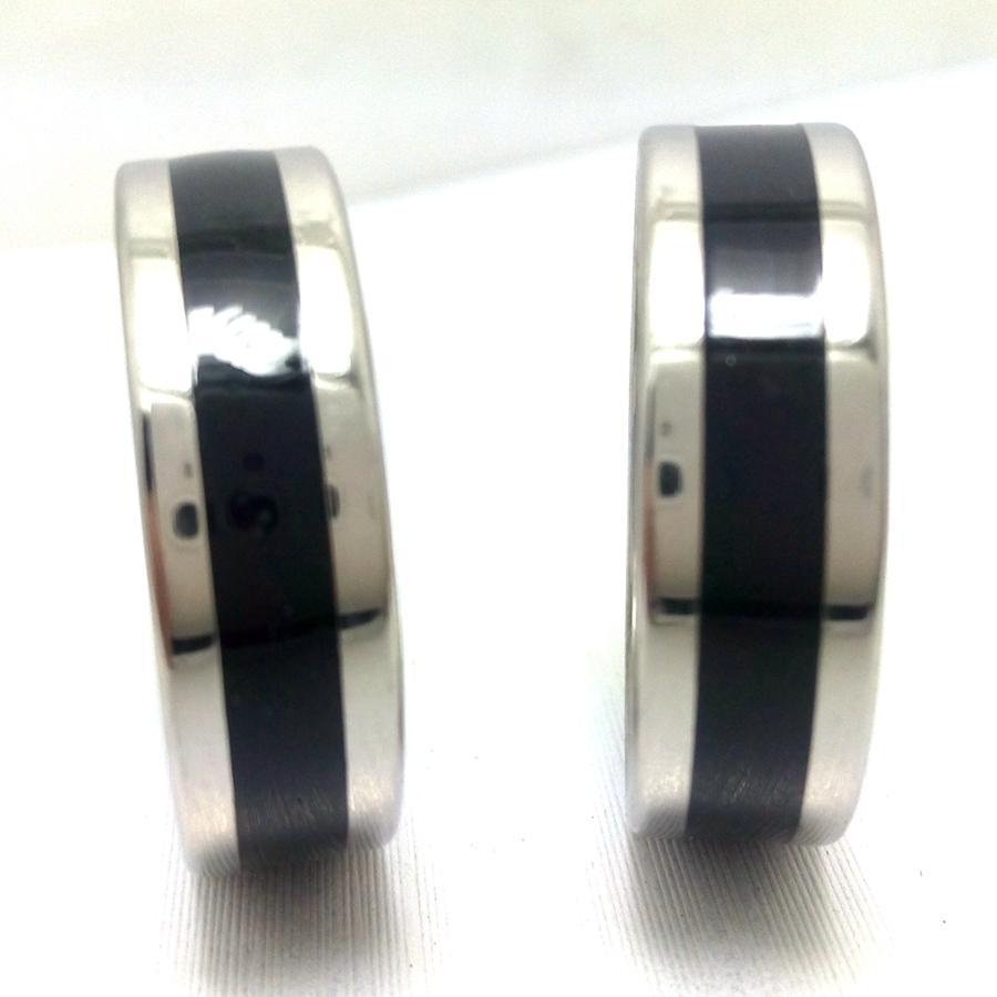 25 unids anillos de acero inoxidable de rayas de esmalte negro de 8pcs 8mm para hombre llena de aceite de moda hombre joyería de moda