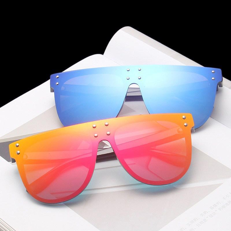 Hombres Estilo Gafas de sol grandes Semicírculo Remache femenino Colorido Mercury Marco de sol nuevo marco Moda para gafas de gafas Mujeres HBKNQ