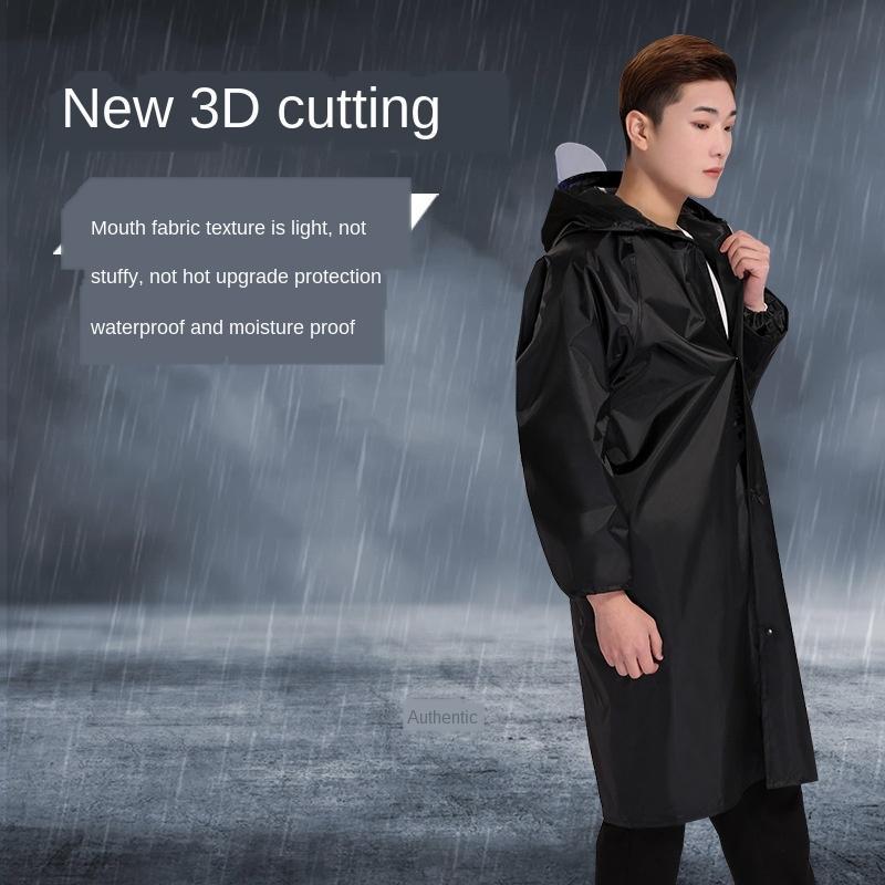 pano de Oxford faixa reflexiva chuva casaco vento Reflective Oxford blusão grande aba do chapéu longo de uma peça prot casaco poncho adulto de trabalho