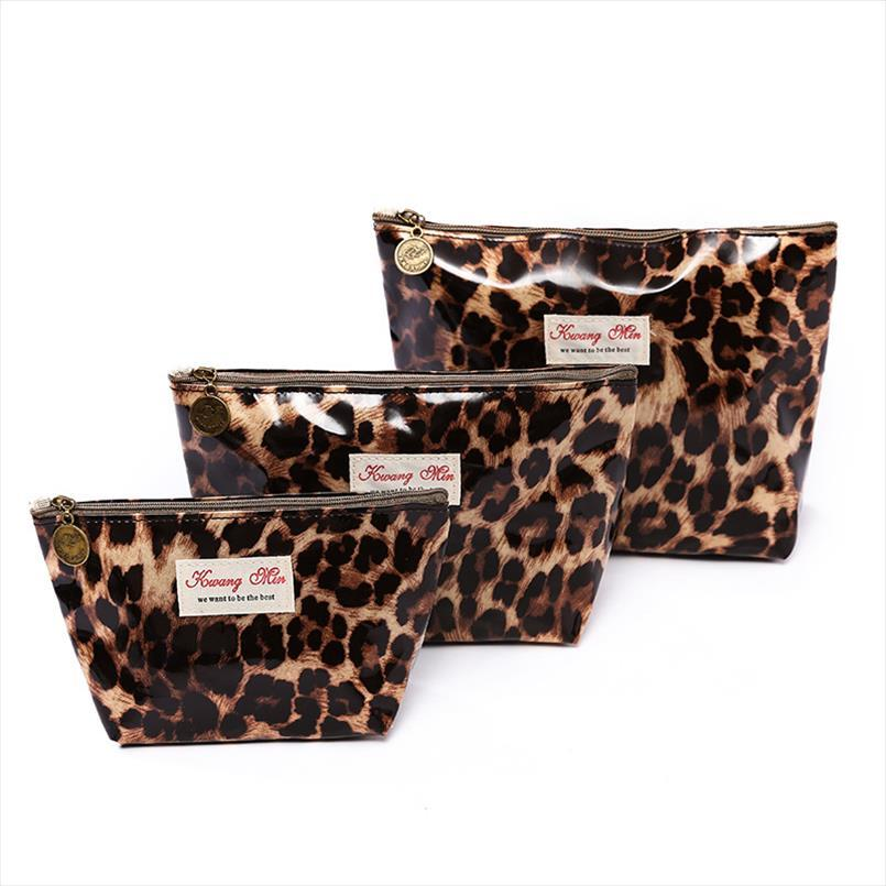 2019 Coton Femmes Sac de toilette cosmétiques motif léopard Make Up Wash organiseur pochette de rangement Sac à main Voyage dropshipping