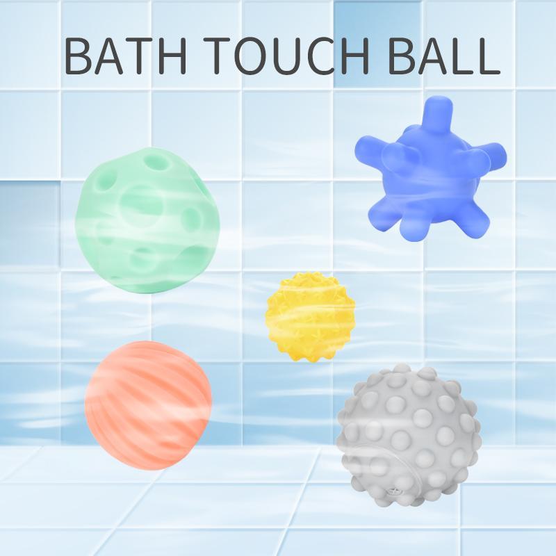 6pcs / set de combinación aleatoria de bebé Juguetes táctil Formación balón con la mano suave masaje bolas textura multi táctil de los sentidos del tacto niños Ducha Bañera juguete