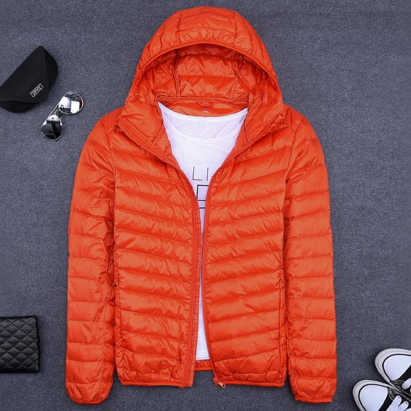 мужчины вниз куртки 2020 зима мужчины вниз пальто полупальто свет верхней одежды ОРАНЖЕВЫЙ СИНИЙ СЕРЫЙ ЧЕРНЫЙ ЗЕЛЕНЫЙ S M L XL 2XL 3XL