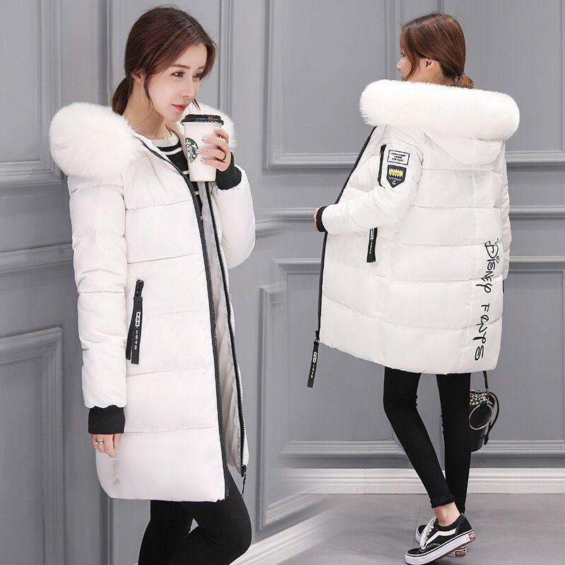 Manteaux de femme 2020 Mode Manteau Femme Vêtements d'hiver femme Veste duvet épais coton Big col de fourrure Manteaux Mujeres LXR224