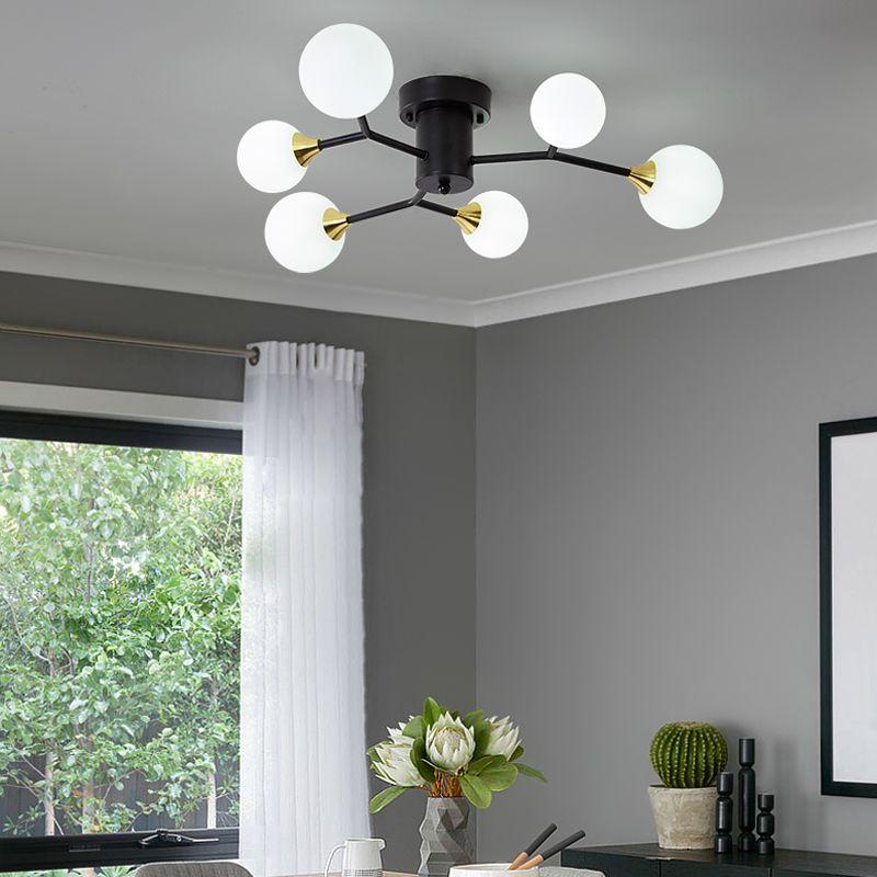 Современные светодиодные потолочные Люстра Множественные люстры Кованые Nordic Лофт для гостиной Спальня осветительной арматуре глянца