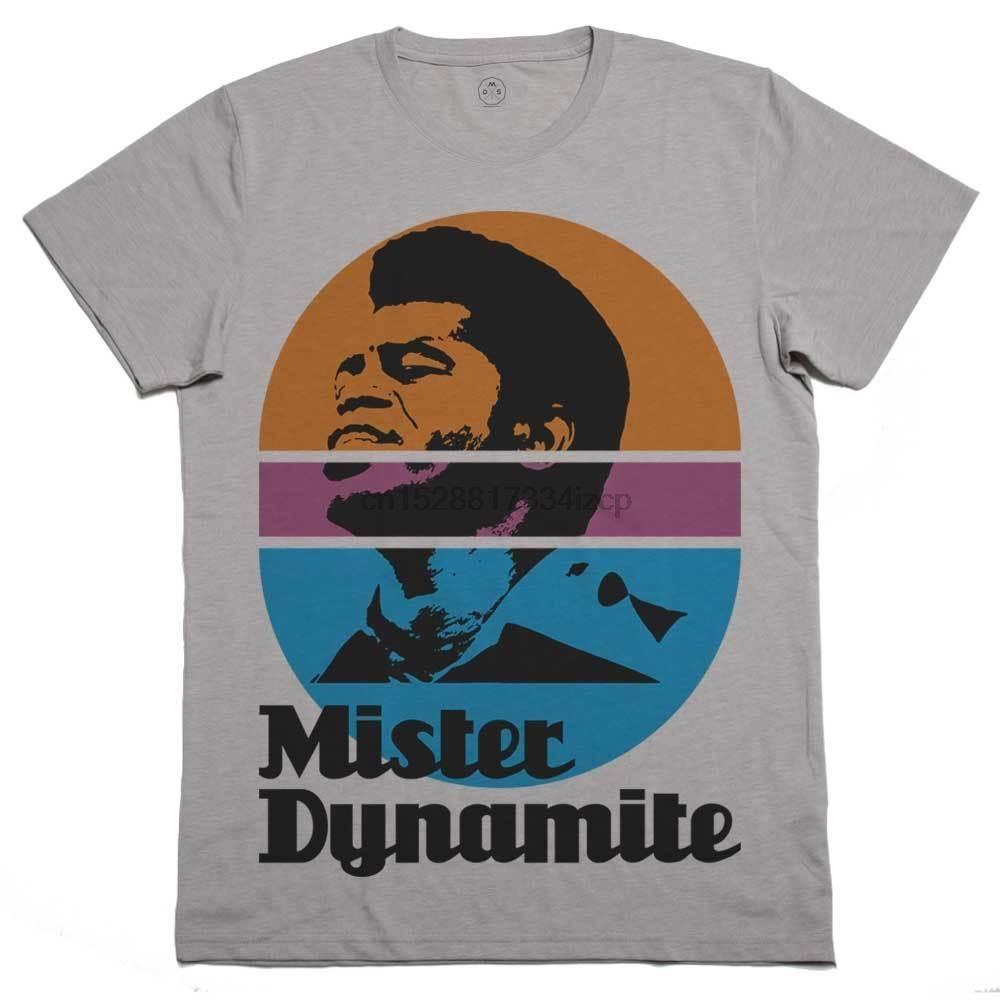 T-shirt Brown Mr Dynamite T-shirt Funky Funk soul music Hip Hop Rap Lettre Mode T-shirt imprimé cadeau Imprimer Hauts pour hommes