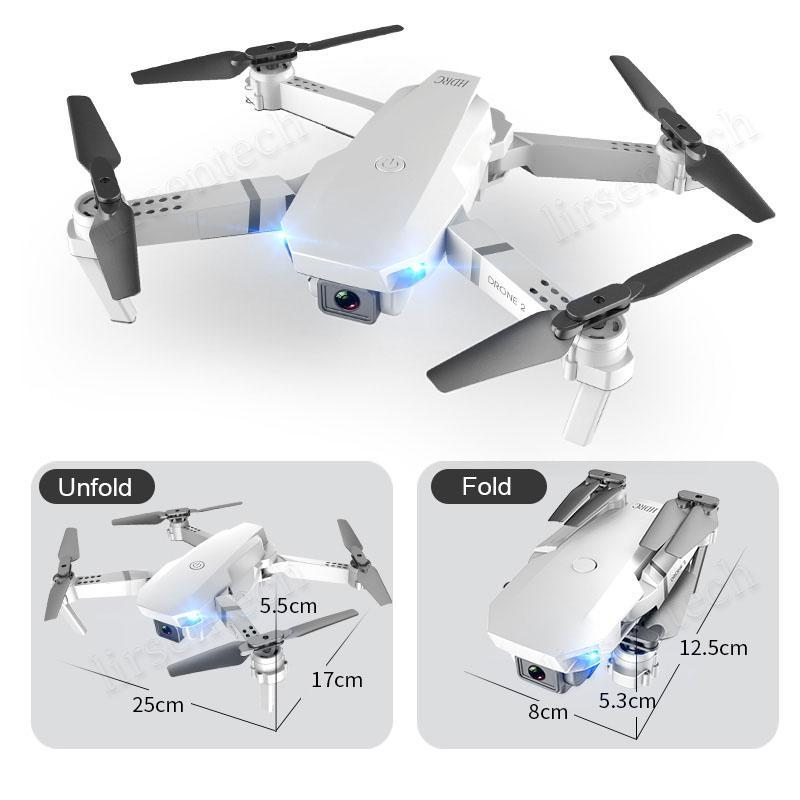 5x E59 RC LED Drone 4K HD Caméra Vidéo Caméra Vidéo Hélicoptère Hélicoptère 360 degrés Flip Wifi Longue Batterie Life pour Kis Adulte 2020
