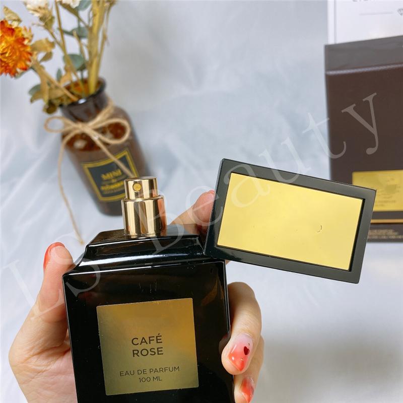 Haut de gamme Meilleur parfum pour les femmes et les hommes oud bois Rose Cafe 100ml EDP Chypré florale de rose Frangrace Vaporisateur Long Lasting Livraison gratuite