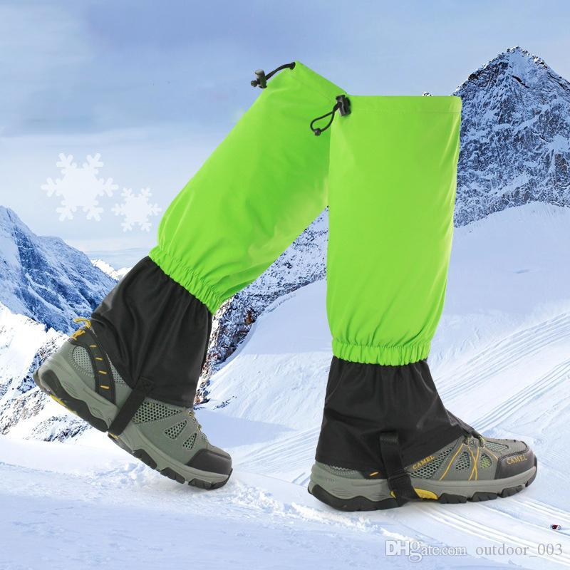 1Pair Unisex Waterproof Cycling Leg Warmers Leg Cover Camping Hiking Ski Boot Travel Shoe Snow Hunting Climbing Gaiters
