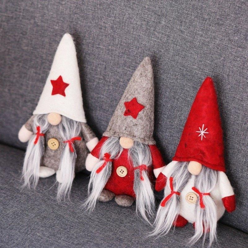 2019 Navidad Постоянный Плюшевые Gnome Doll Swedish Рождество Санта Nisse Nordic Elf Фигурка Главная украшения праздника украшения i2m9 #