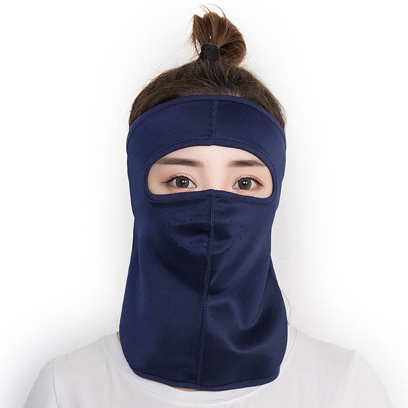Full Face Mask Protezione UV tenda da sole Maschere traspirante Seta Ice Protector Ciclismo Escursionismo Arrampicata Sport Accessori