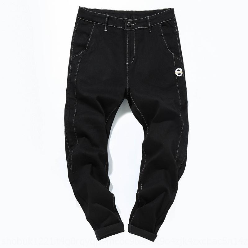 calça jeans solta gordura além de calças jeans sólidos harem pants finos 53xfg rXJyP Primavera novos homens de grande tamanho e mais stretch cor