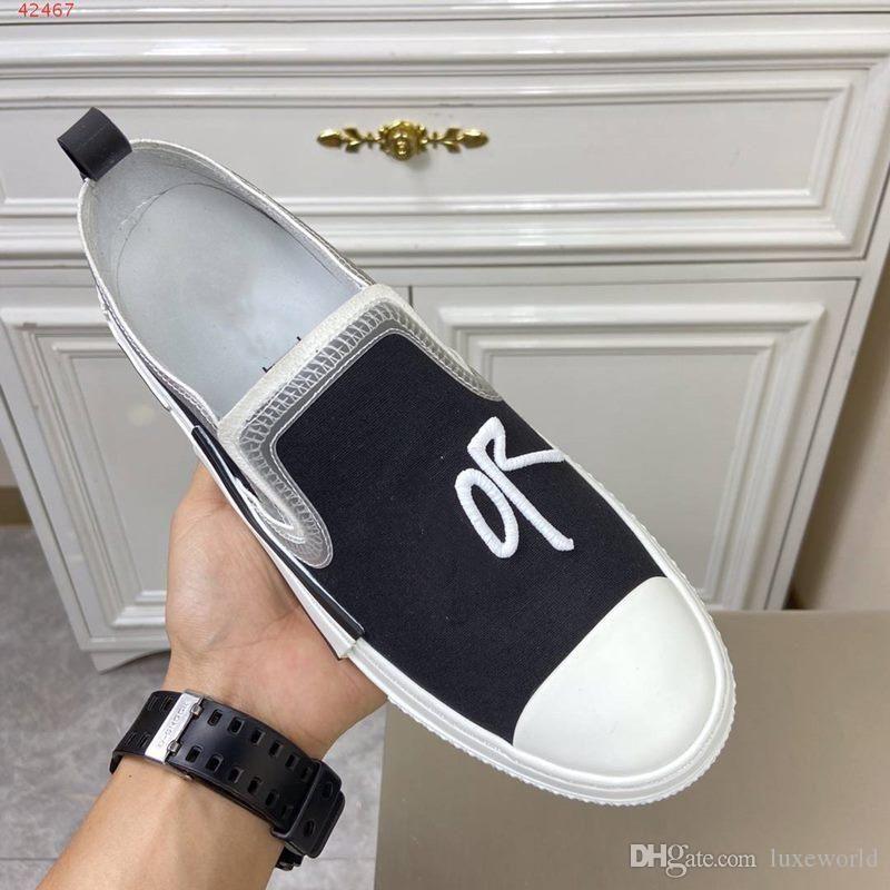 uomini comodi portatili scarpe casual senza allacciatura scarpe stampati bianchi e neri per gli uomini in gomma e tela Disegno del mosaico