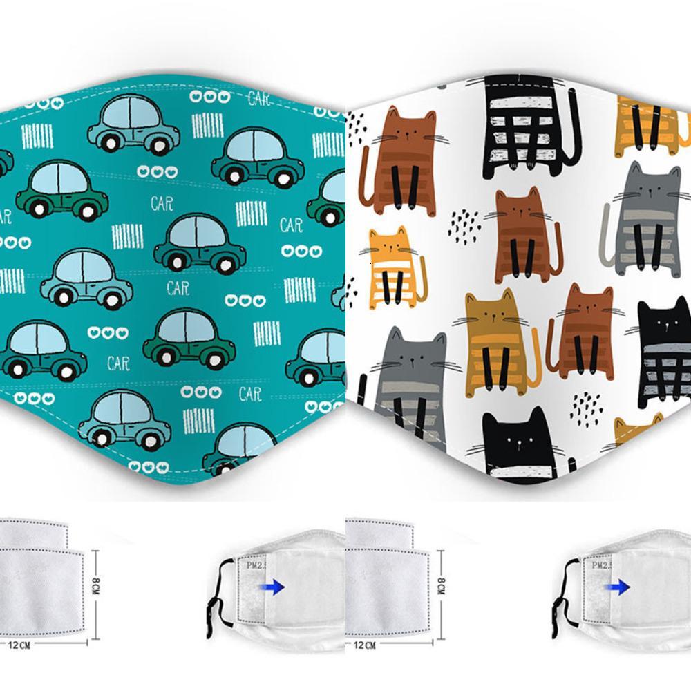 Filter Designer mit Luxus-Gesichtsmaske Baumwolle Gesichtsmasken Kinderkarikaturschablone PM2.5 dust4AZW E0LK