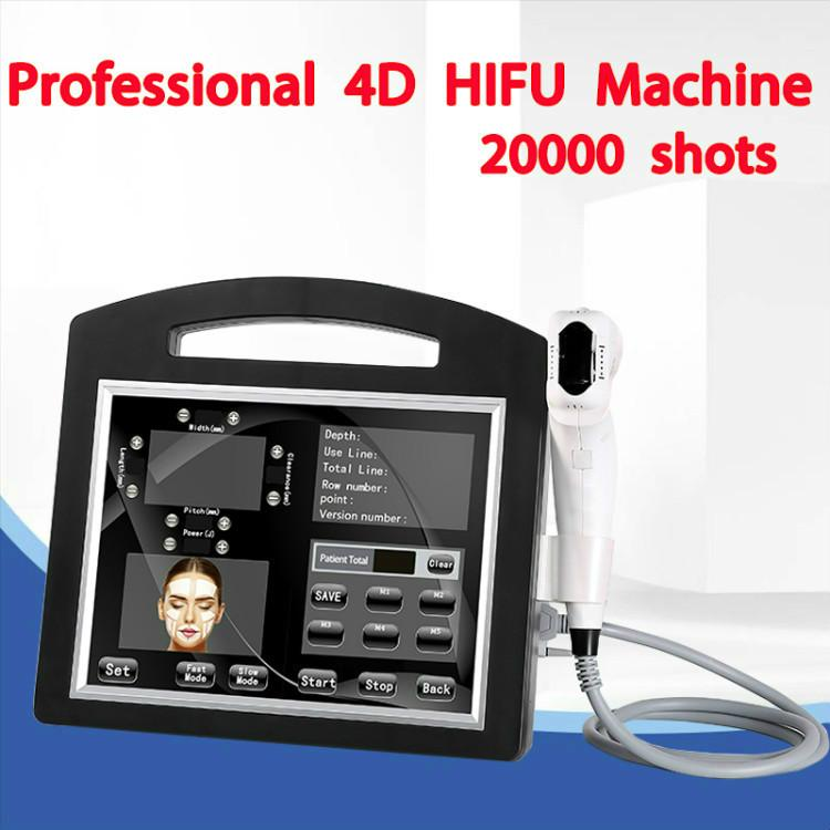 Professional 4D Hifu 20000 Shots 12 Lines SMAS Lifting Skin Care 3D Hifu Machine With 1.5mm 3.0mm 4.5mm For Salon