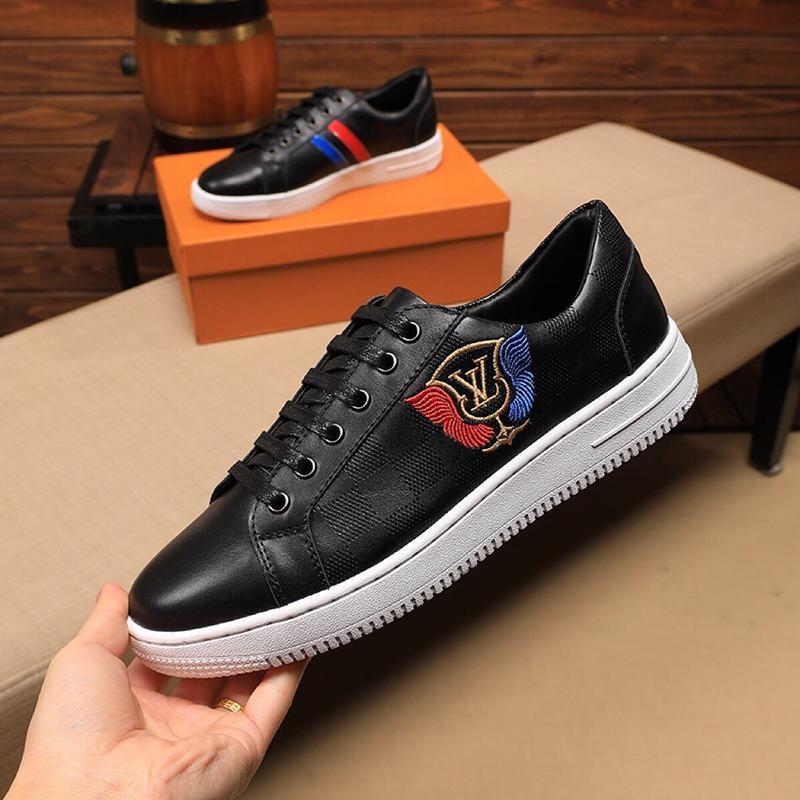 2021s Luxury Leather Design Высокое качество печатных резиновой подошвы кроссовки Мода Дикого мужская повседневная обувь для мужчин ', S Банкет обувь Размер: 38 -45