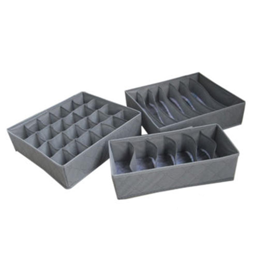 3pcs Underwear Bra Sock Tie Caixa de armazenamento Closet Organizador gaveta Container Set