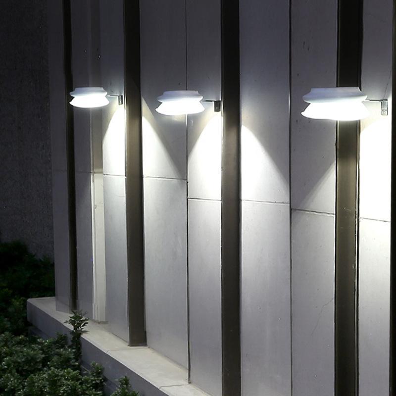 الطاقة الشمسية مصباح الجدار في الهواء الطلق الإضاءة مصباح الجدار في الهواء الطلق حديقة الديكور LED حديقة ضوء نمط جديد