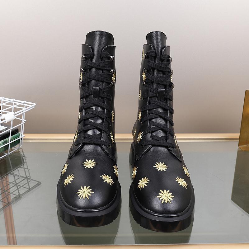 2021k neuer Trend Warm dick mit Absatz-Aufladungen, hohe Qualität Stiefel Temperament Bare Boot, Original-Box Lieferung