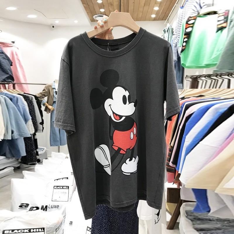 usPab coreano Dongdaemun 2020 primavera T-shirt girocollo nuovo fumetto casuale a manica corta stampata perdere tutto-fiammifero T-shirt da donna