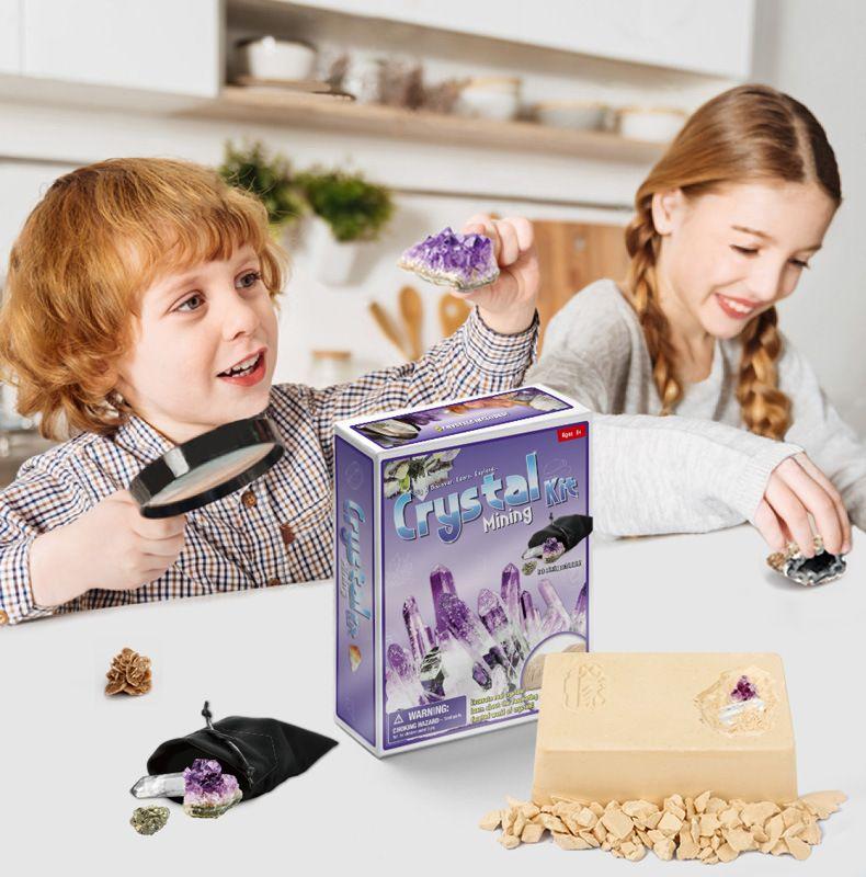 Слепой ящик детей смешной творческий археология кристалл ископаемые раскопки раскопки копая игрушка детские дети DIY ручной модели образования игрушки