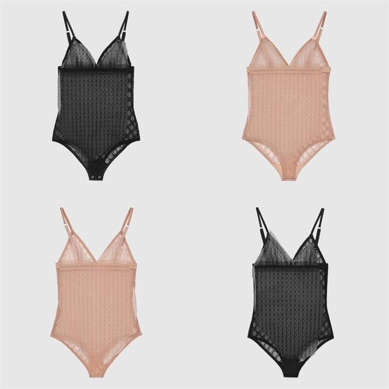 Completa Lettera ricamo delle donne la tuta di modo di fascino Lady Elastic lusso Sexy Bikini coperta personalità femminile Sleepwear