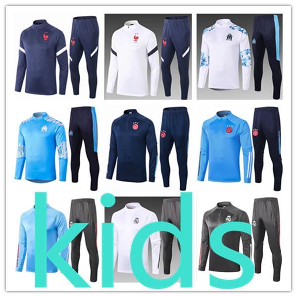 2021 kids new football kits tracksuit soccer jersey 2020 2021 real madrid training tracksuits survetement foot chandal futbol sportswear