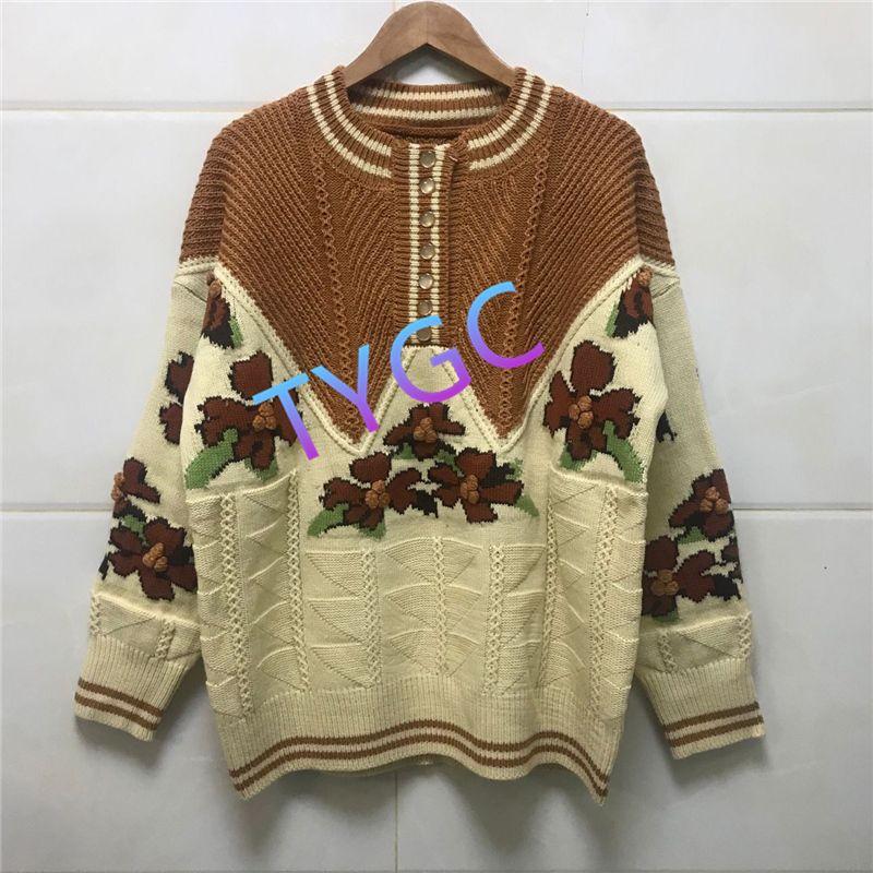 chemise laineux tricot polaire pull en laine pull col rond creux chemise dames pull-over couleur contraste manches longues