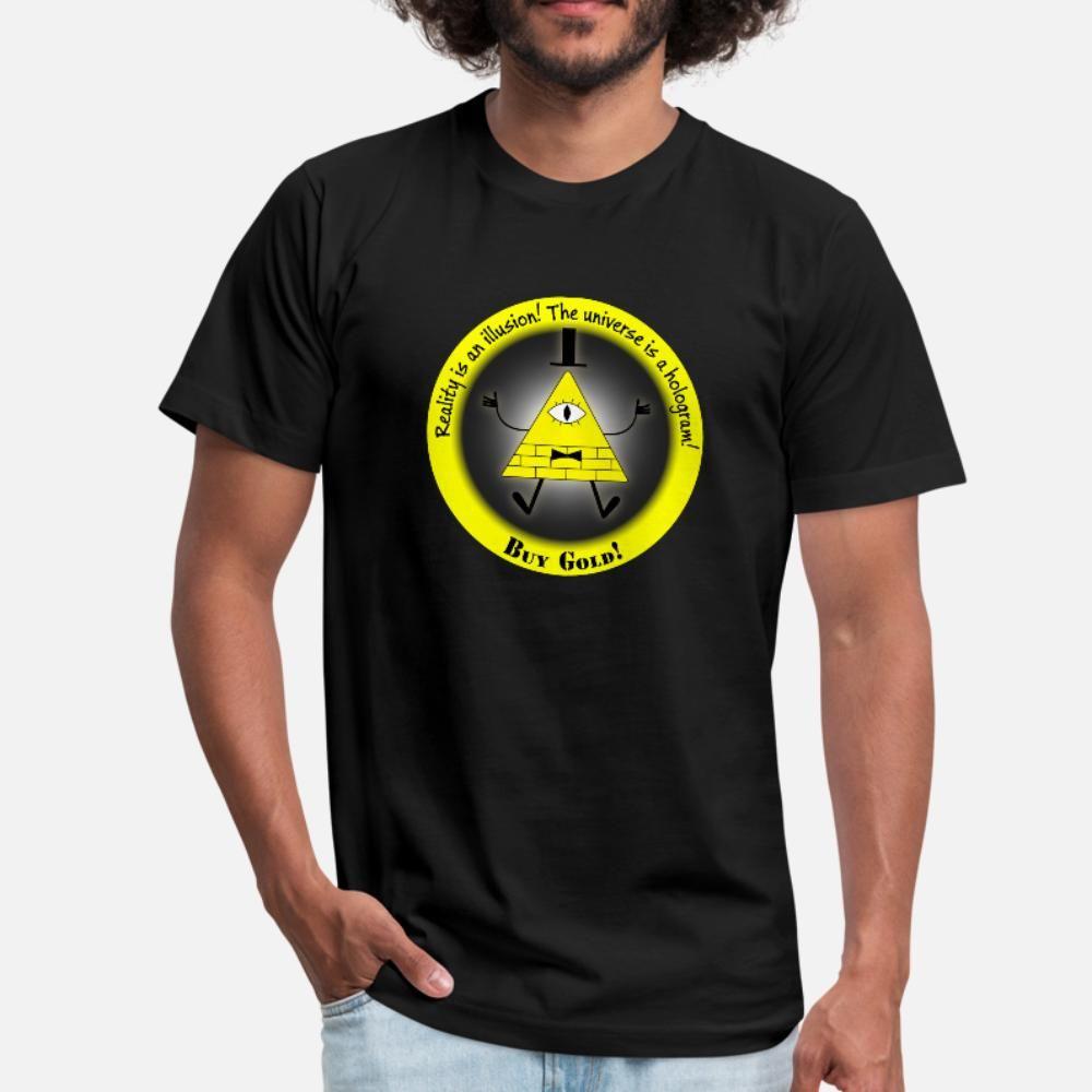 La realidad es una ilusión t camisa de los hombres Impresión de algodón más 3XL tamaño del patrón famosa camiseta del patrón auténtico verano
