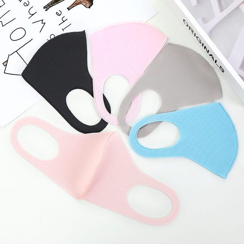 Детские многоразовые лицевые маски для лица пылезащитные антибактериальные моющиеся вязаные ткани защитные маски регулируемые мультфильмы для детей