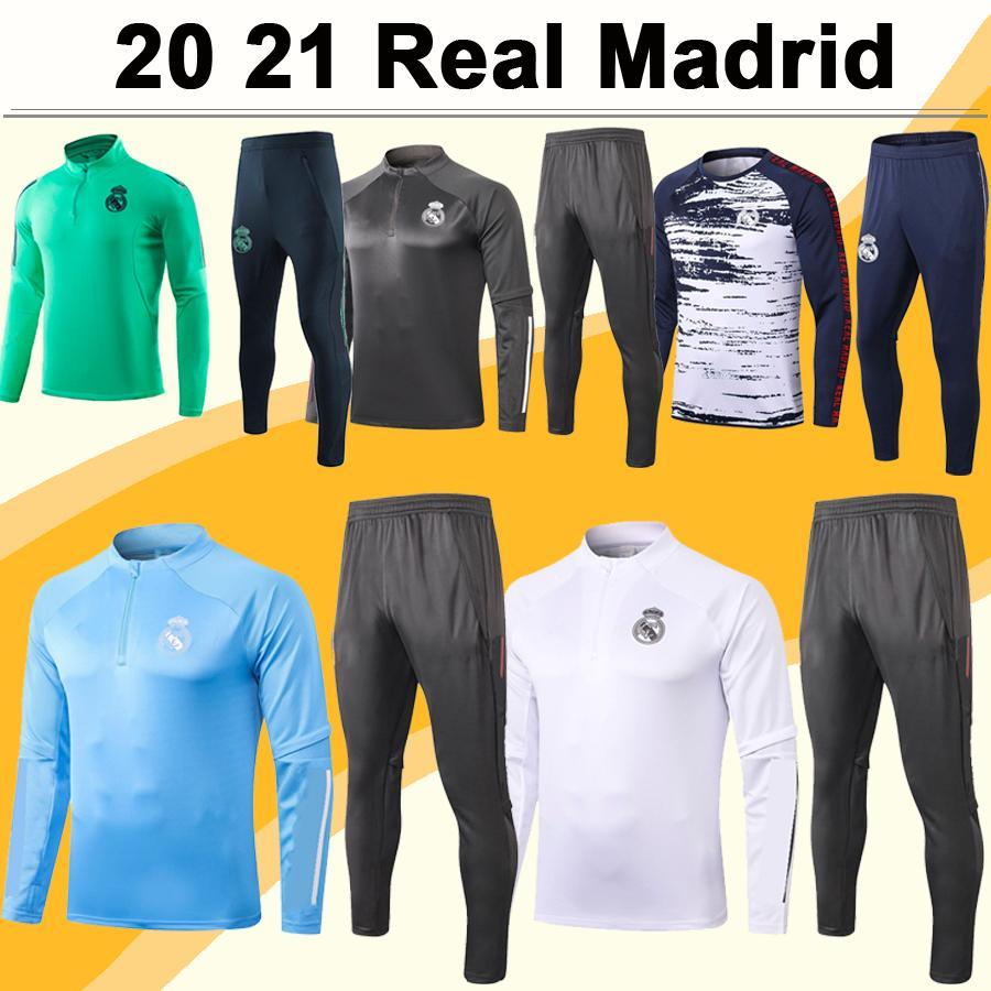 20 21 ريال مدريد التدريب البدلة كرة القدم الفانيلة أخطار SERGIIO RAMOS كروس رجل رياضية كيت كرة القدم قمصان موحدة BENZEMA MARCELO ISCO