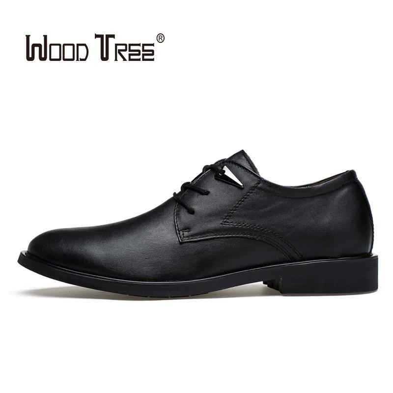 Sapatos de cima Homens WOODTREE 2020 de Moda de Nova vestido de visita clássico couro dos homens Moda Lace Up Vestido Oxford Sho
