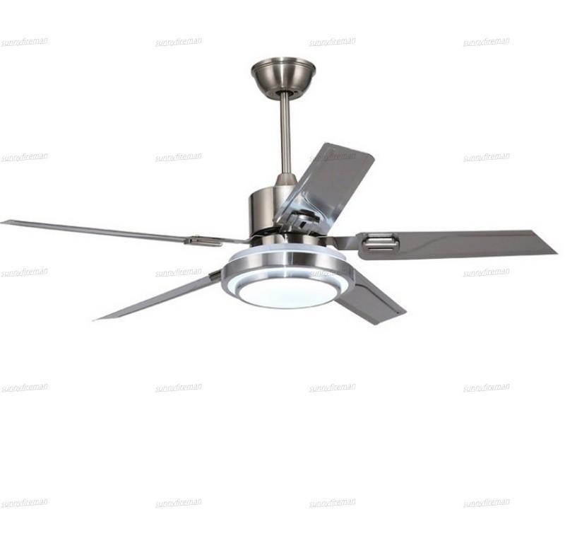 5 Лезвия Закрытый Потолочный вентилятор света с пультом Матовый никель Вентиляторы 42 48 52 дюймов 110v 220v молчание хороший сон молчание