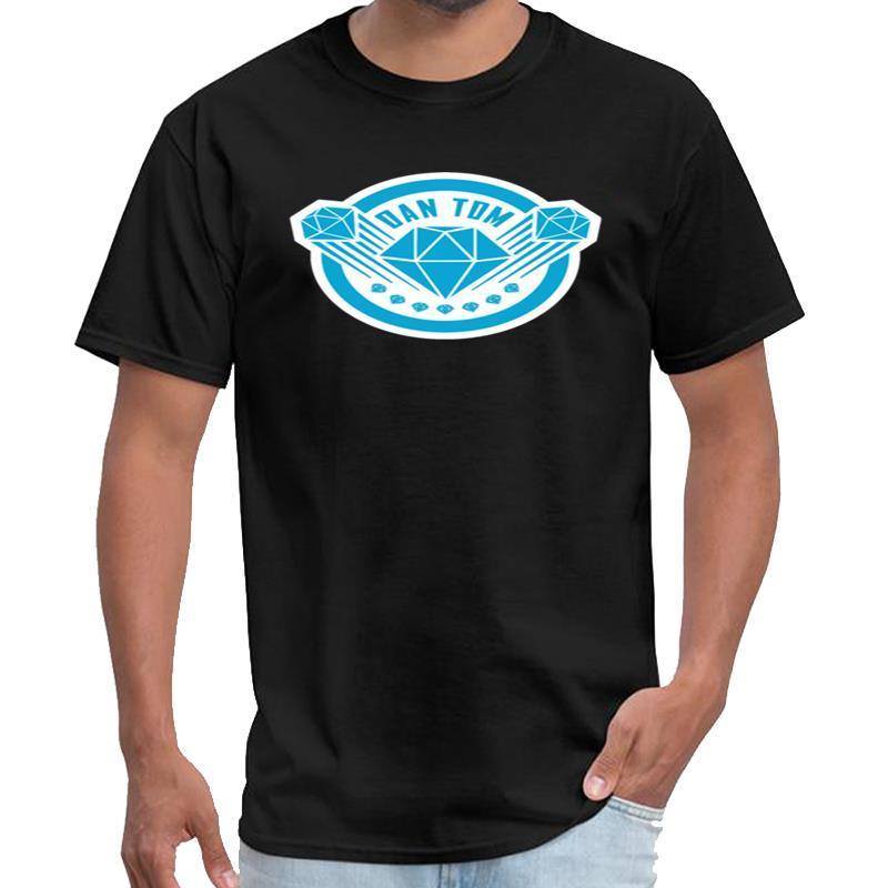 Customized DAN TDM The Diamond Minecart New Diamant Vexel T-Shirt MANCHE longue homme Herren synthwave T-Shirt große Größe s ~ 5xL tee