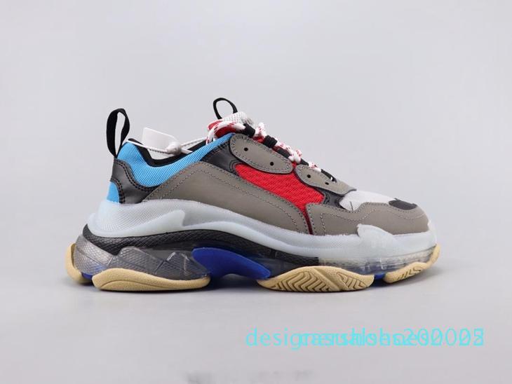 Damen Herren Triple-S Designer-Schuh-Plattform-Turnschuhe Spur 3.0 Casual Luxury Dad Schuh für Männer / Frauen Qualität Rote Unterseite Freizeitschuh d02