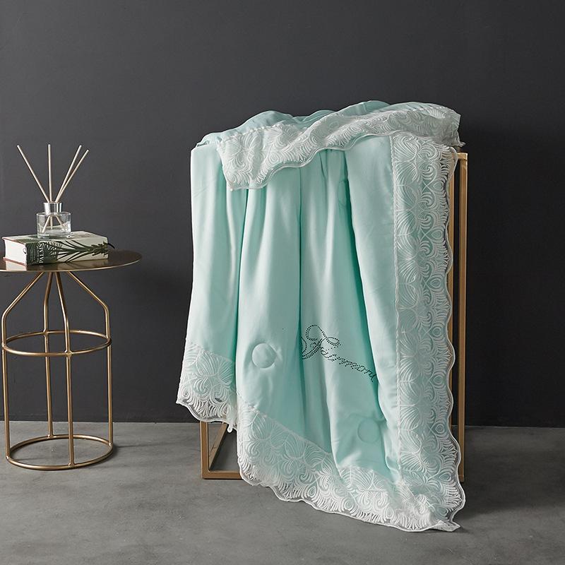 La primavera e l'estate di colore solido Estate Quilt Lace Can lavabile saia sottile trapunta in polipropilene tessuto romantica principessa Style