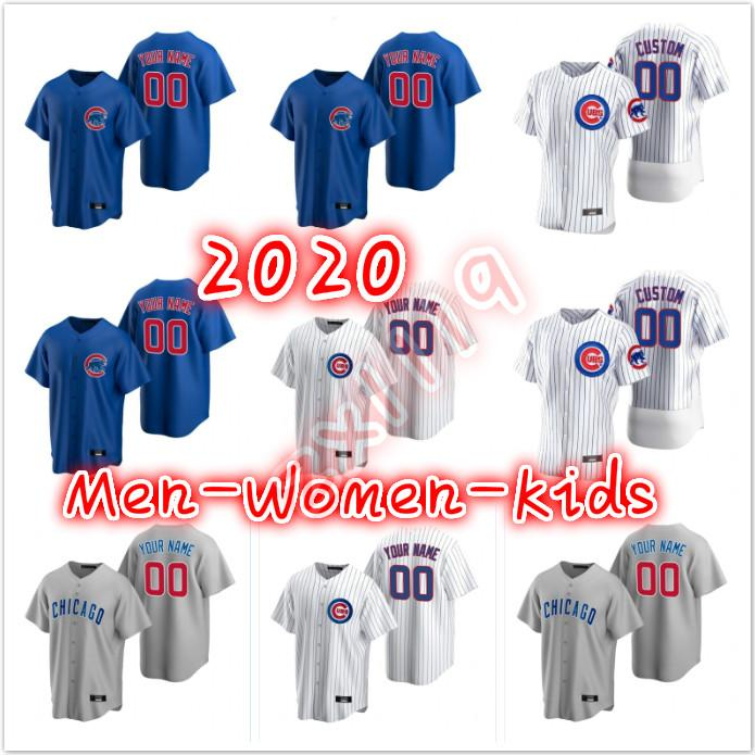 Yeni 2020 Cubs forması Anthony Rizzo Javier Baez KrisBryant Kyle Schwarber Jason Heyward Albert Almora Jr. David Haberci Erkekler Kadınlar Gençlik