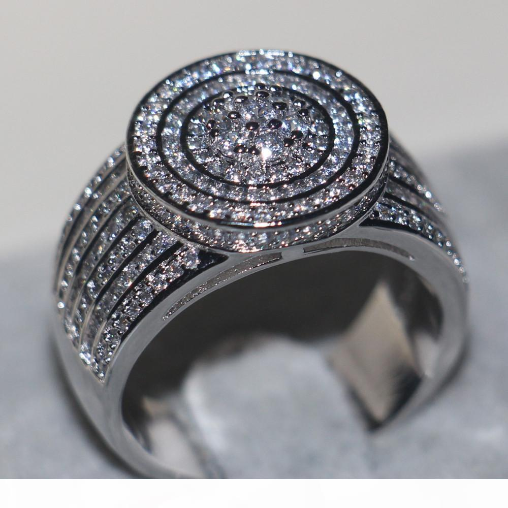 Majestic Sensation ювелирные изделия Женщины мужчины кольцо Pave набор 240pcs 5A циркон CZ 925 серебро обручальное обручальное кольцо