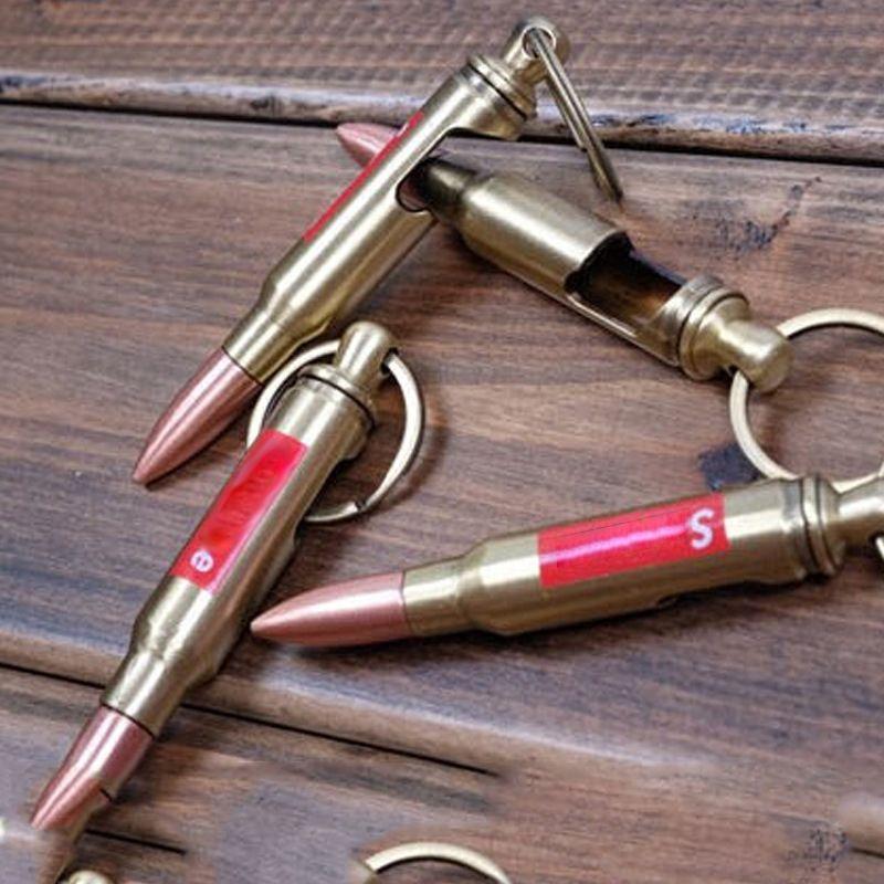 Bronze Gun Bullet Keychain Flaschenöffner Modelle Halter Vintag Creative Gift CF Firewire CS Go Anhänger Keyringe für Auto Schlüsselanhänger