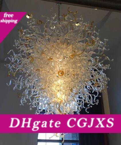 Soffiato a mano di alta qualità di vetro grande lampadario a sospensione Illuminazione Albergo Arte di cristallo lampadari per la decorazione di arte