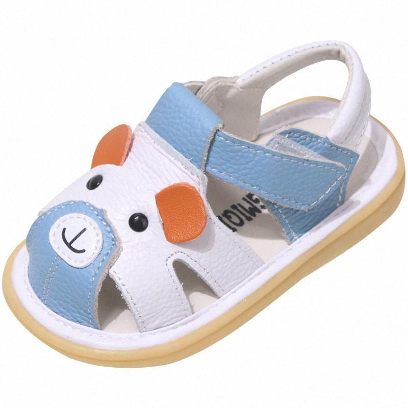Bebé de Verão Sapatos Boy Sandals oco esculpida Design Bebê de Baotou Sandals couro antiderrapante criança Sapatos Loja de crianças KHYM #