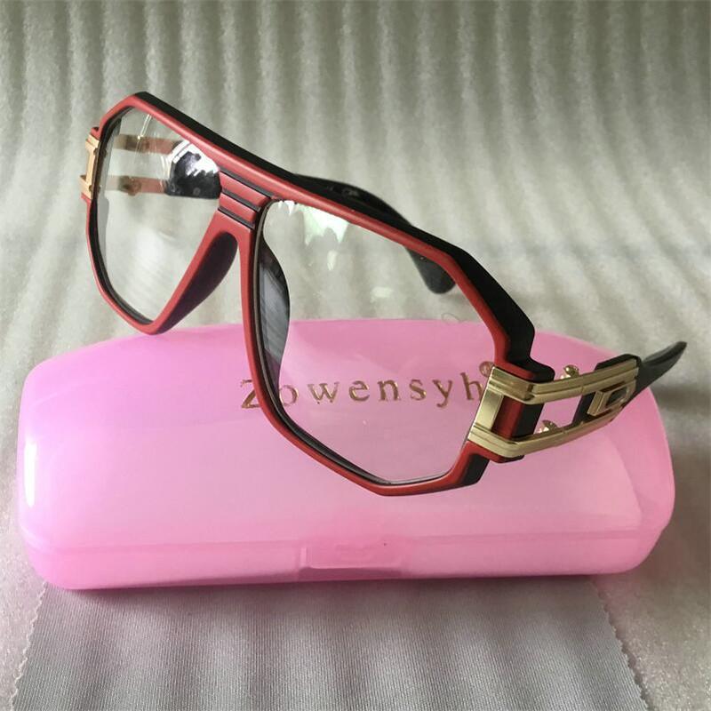 Zowensyh lunettes gradient cadre lunettes de soleil lunettes de soleil femmes surdimensionnées Vintage lunettes de soleil taille Sortie creuse 624 luxe rouge gros kjvkx
